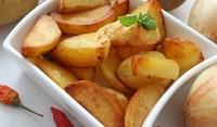 Запечени къри картофки