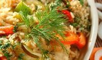 Пилаф от булгур с печени зеленчуци