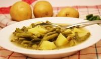 Зелен боб с картофи на фурна