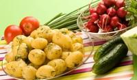 Картофи с копър и чесън