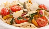 Спагети с домати и патладжани