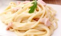 Спагети с шунка