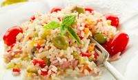 Чилийска салата с ориз и свинско
