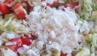 Зелева салата с авокадо и домати