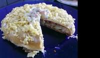 Палачинкова торта с руска салата