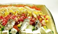 Зеленчуково плато с риба