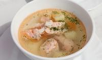Зеленчукова чорба с рибно филе