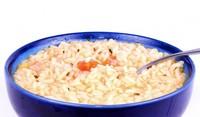 Млечна супа с ориз и мента