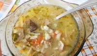 Застроена супа от агнешки дроб