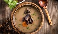 Супа от гъби с готварска сметана
