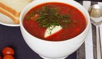 Супа от червен лук и червено цвекло