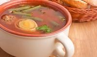 Агнешка супа топчета със зеленчуци