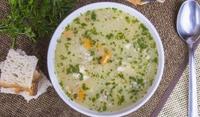 Зеленчукова супа с фиде и сирене