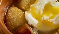 Супа с яйца и пармезан