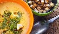 Рибена супа с крутони