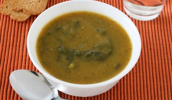 Супа от агнешки главички със спанак