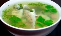 Чорба от дребни рибки и зелев сок