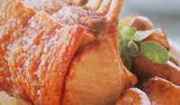 Свински ребра с ябълков сос