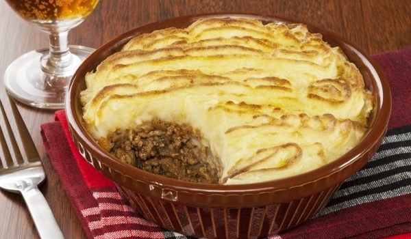 Картофен пай с кайма
