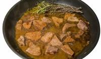 Свинско месо със сос от хрян и горчица