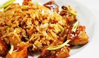 Свински късчета с ориз