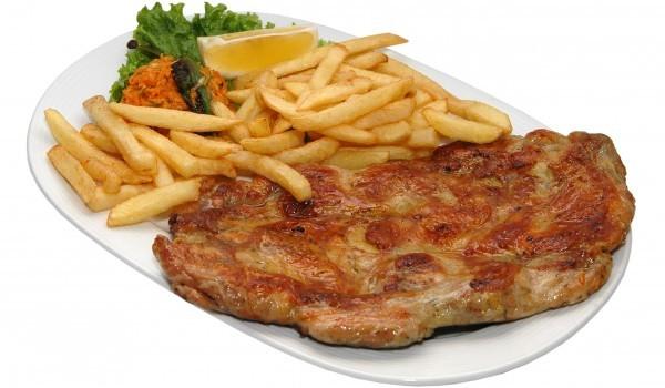 Свински пържоли с чесън