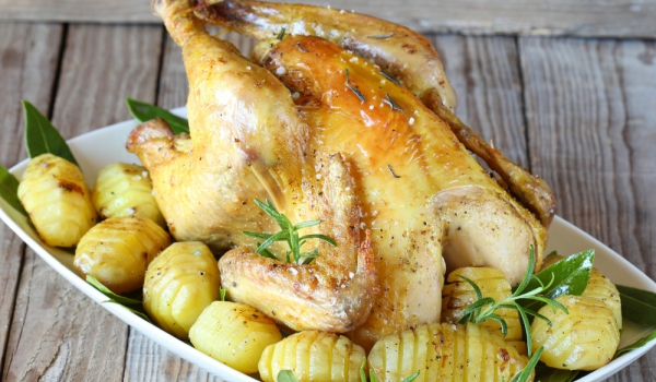 Пиле с бяло вино и сметана