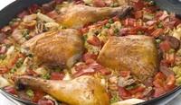 Пиле със зеленчуци и ориз