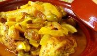 Пържено пиле със стафиди и маслини