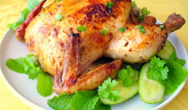 Пълнено пиле с ароматни билки
