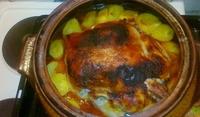 Пиле с бира и картофки
