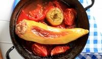 Пълнени пържени пиперки с пилешко
