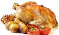 Пълнено пиле с плънка от сирене
