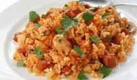 Домати с ориз и пилешко на фурна