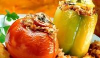 Пълнени чушки, камби и домати