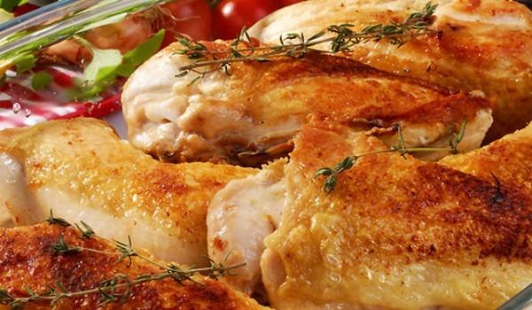 Пиле със сметана и розмарин