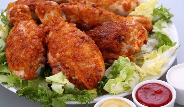 Пържени пилешки бутчета с горчица