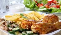 Мариновано пиле на скара