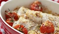 Карас с червени домати на фурна