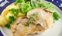 Риба на тиган с картофена салата