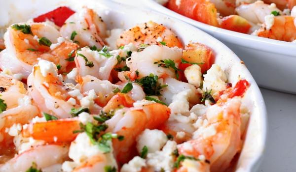 Скариди с домати и сирене Фета