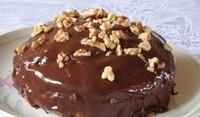 Руска ретро торта със сметана и какаова глазура