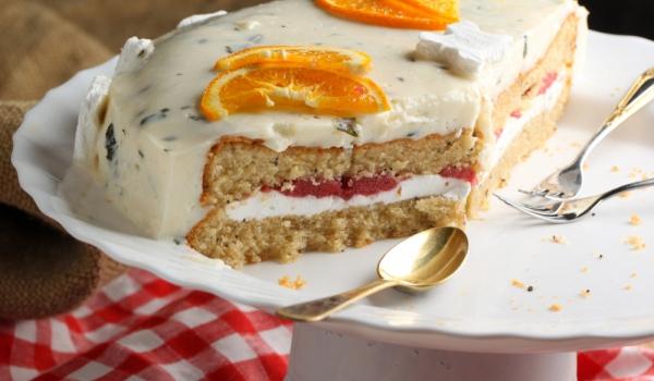 Торта с галета и сметана