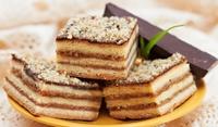 Бисквитена торта с тахан халва