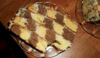 Шахматна торта с кокос