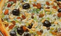 Пица с маслини, сирене и цикория