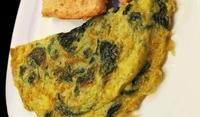 Печен зелен омлет