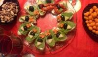 Сандвичи Коледен венец